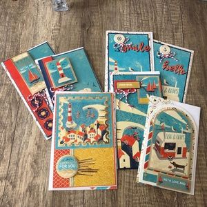 Handmade Seaside Variety Pack ( Total 7 Cards)